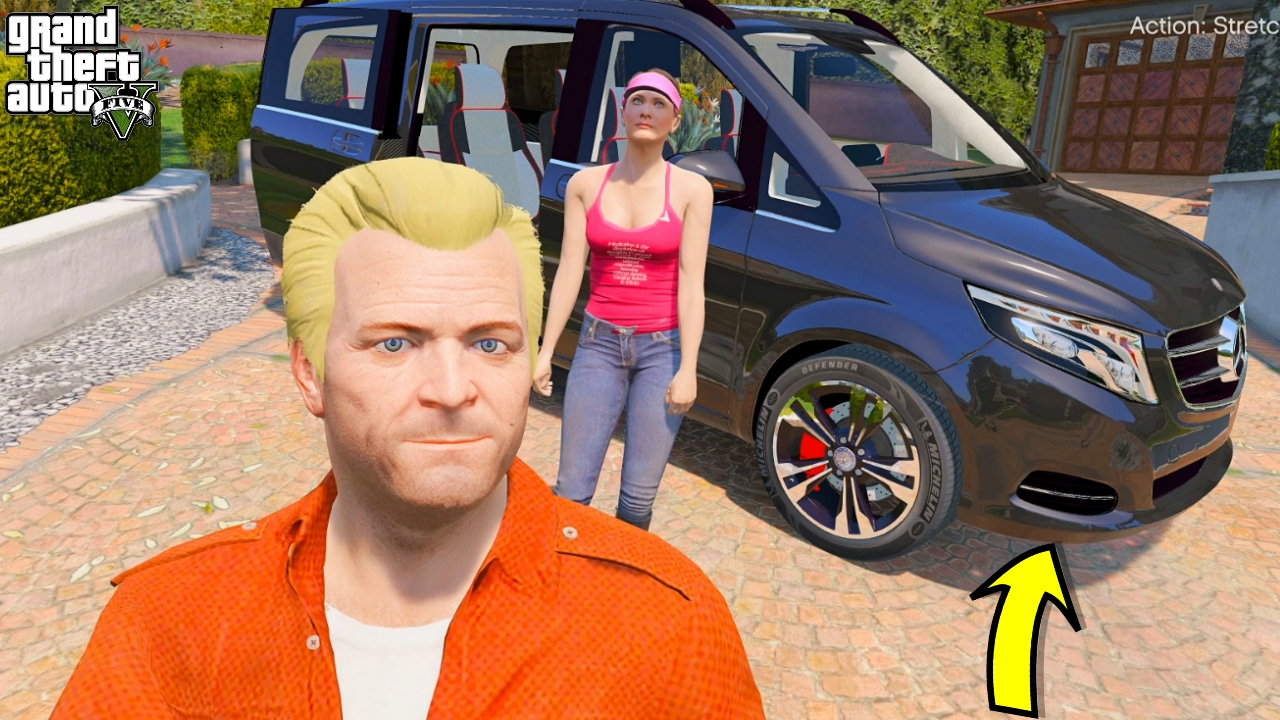 GTA 5 MICHEAL REAL LIFE MOD #6 OUR NEW FAMILY CAR!